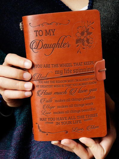 DAUGHTER MOM - THREE THINGS - VINTAGE JOURNAL