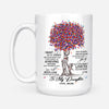 DAUGHTER MOM - NEVER LOSE - WHITE MUG