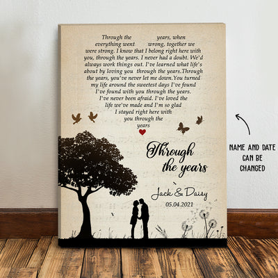 Through The Years - Personalized Custom Matte Canvas - Gifts For Husband Wife