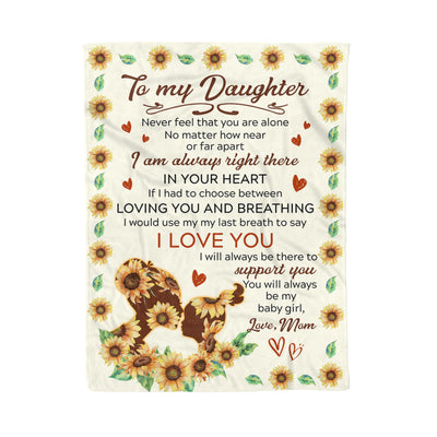 To My Daughter - In Your Heart - Fleece Blanket