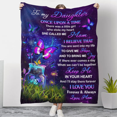Keep Me In Your Heart (Mom Version) - Premium Fleece Blanket - Gifts For Daughter