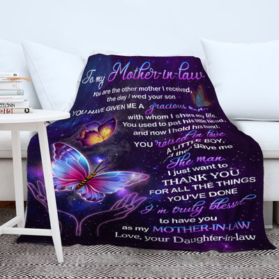 The Best Mother-in-law -  Premium Fleece Blanket - Mother's day Gifts