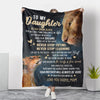 Daughter Mom - Never Stop Trying - Fleece Blanket