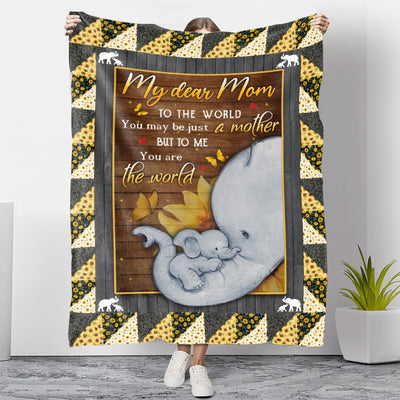 To Me, You Are The World - Premium Fleece Blanket