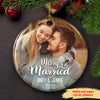 Merry & Married - Personalized Ceramic Christmas Photo Ornaments
