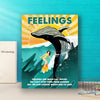 Personalized custom canvas - Feelings are much like waves - Gift for family members, gifts for friends - Home wall art decor