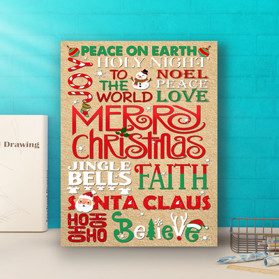Christmas Subway Art - Matte Canvas - Christmas Decorations