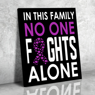 No One Fights Alone - Premium Matte Canvas - Motivational Canvas