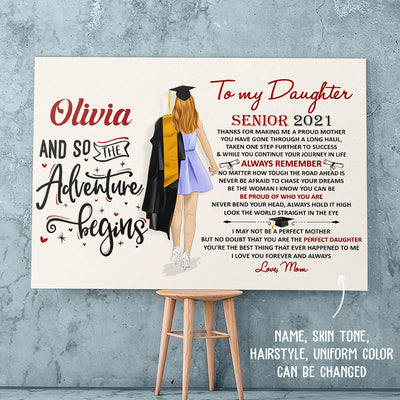 The Perfect Daughter 3 - Personalized Custom Matte Canvas