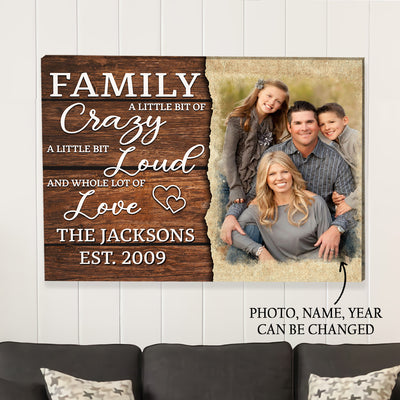 Family Lot Of Love - Personalized Custom Photo Canvas
