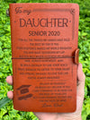 DAUGHTER DAD - BELIEVE IN YOURSELF - SENIOR 2020 - VINTAGE JOURNAL