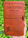 DAUGHTER MUM - BELIEVE IN YOURSELF - SENIOR 2020 - VINTAGE JOURNAL