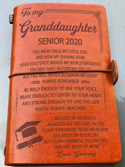 GRANDDAUGHTER GRAMMY - BELIEVE IN YOURSELF - SENIOR 2020 - VINTAGE JOURNAL