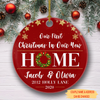Christmas in new home - Personalized Ceramic Christmas Ornaments