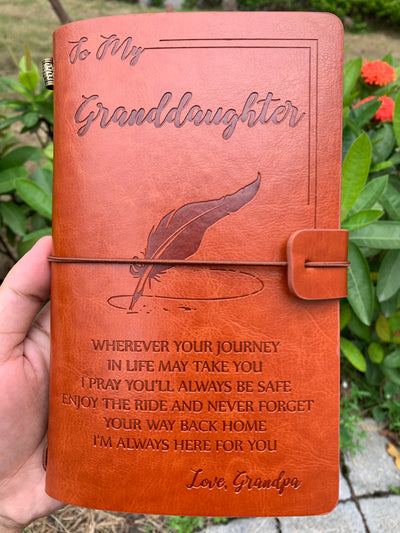 GRANDDAUGHTER GRANDPA - ENJOY THE RIDE - VINTAGE JOURNAL