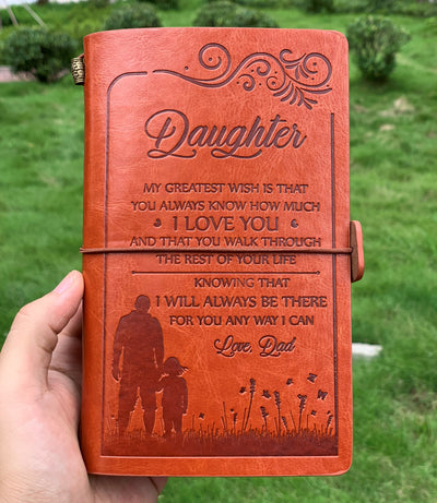 DAUGHTER DAD - ALWAYS BE THERE - VINTAGE JOURNAL