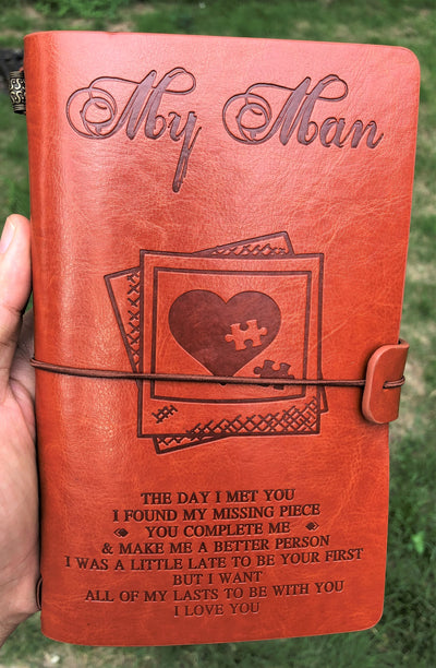 MY MAN - MY MISSING PIECE - VINTAGE JOURNAL