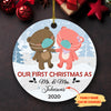 Our First Christmas As Mr. & Mrs. - Personalized Ceramic Christmas Ornament
