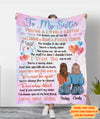 A lovely sister 2 - Personalized Custom Fleece Blanket