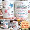 Love Knows No Distance - Personalized Custom Coffee Mug