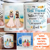 Sister By Heart - Personalized Custom Coffee Mug - Best Friend Mugs