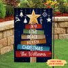 Joy Love Peace - Personalized Custom Garden Flag - Christmas Decorations