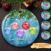 Our Family 2020 - Personalized Ceramic Christmas Ornaments - Family Ornaments