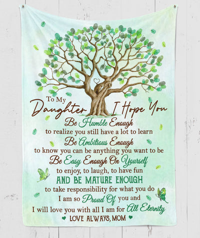 I Hope You - Premium Fleece Blanket - Gifts For Daughters From Mothers