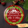 Our First Christmas As Mr & Mrs 5898 - Personalized Ceramic Christmas Ornaments