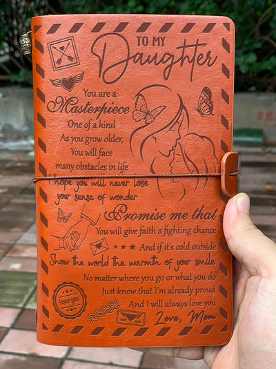 DAUGHTER MOM - GIVE FAITH A FIGHTING CHANCE - VINTAGE JOURNAL
