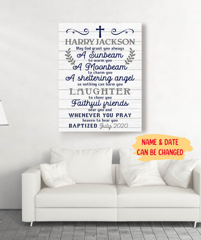 Baptism Baby - Personalized Custom Canvas
