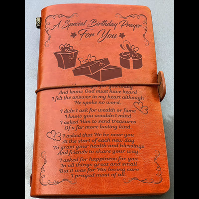 A Special Birthday Prayer for You - Birthday gift -  Vintage Journal - 8250