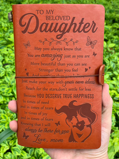 Daughter Mom - You deserve true happiness - vintage journal