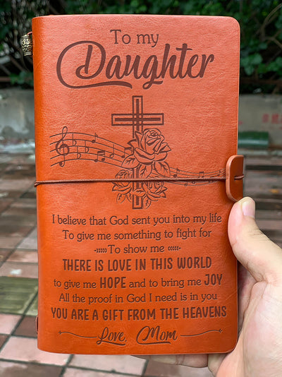 Daughter Mom - God Sent You Into My Life - Vintage Journal