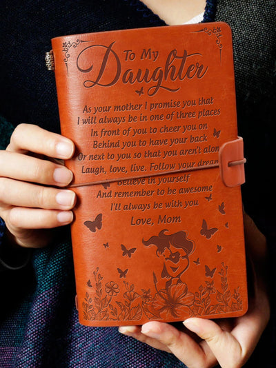 To My Daughter - I Will Always Be With You - Vintage Journal - 5434