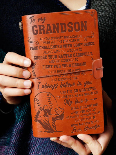Grandson Grandpa - Fight For Your Dreams - Vintage Journal
