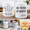 Like Mother, Like Daughter - Personalized Custom Coffee Mug - Mother's Day Gifts