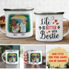 Life Is Better With Bestie - Personalized Custom Campfire Mug
