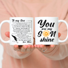 Son Mom - Believe in Yourself - Coffee Mug For Son