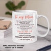 Thank You For Your Guidance - Personalized Custom Coffee Mug