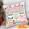 Christmas Family Rules - Personalized Custom Pillow - Christmas Gifts