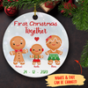 First Christmas Together 962 - Personalized Ceramic Christmas Ornaments