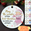Be With You Always - Personalized Circle Ceramic Ornament - Baby's First Christmas Ornaments, Newborn Gifts