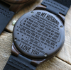 HUSBAND - SOULMATE - WOOD WATCH