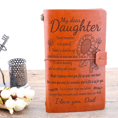 DAUGHTER - DAD - BE YOURSELF - VINTAGE JOURNAL