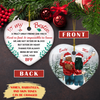 Hard To Find - Personalized Heart Ceramic Ornament - 2-Sided Ornament