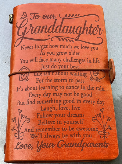 TO OUR GRANDDAUGHTER - NEVER FORGET HOW MUCH I LOVE YOU - VINTAGE JOURNAL