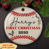 Baby First Christmas - Personalized Ceramic Christmas Ornaments - 6522