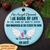 An Angel Opened The Book - Personalized Ceramic Christmas Ornaments - Miscarriage Gifts