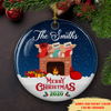 Family Socks - Personalized Ceramic Christmas Ornaments